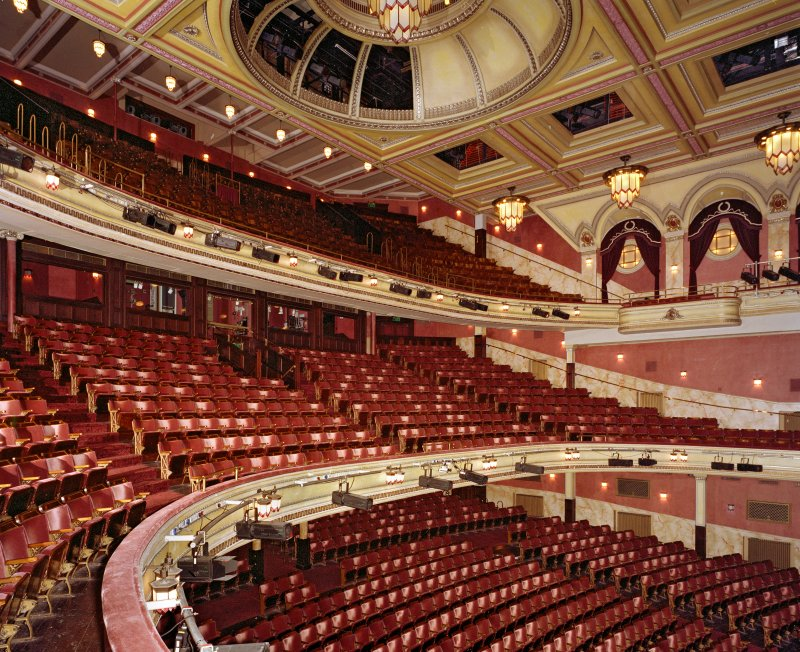 Interior. Auditorium, grand circle, view from N