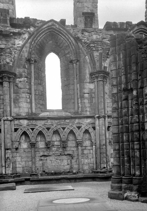 General view of interior of North aisle of Nave at Holyrood Abbey Inv. fig. 282