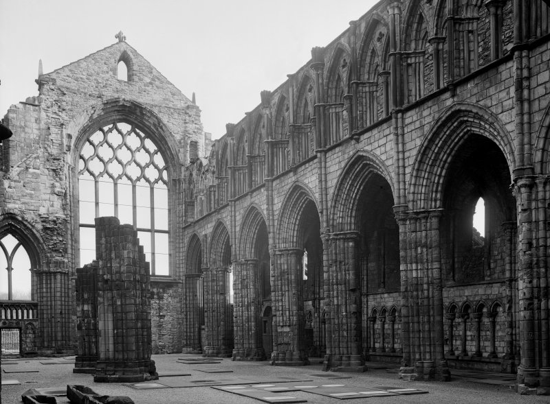 General view of interior of Nave at Holyrood Abbey, looking South East Inv. fig. 278