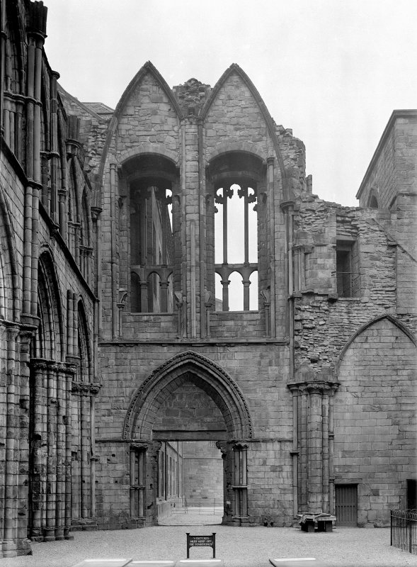 General view of interior of West gable at Holyrood Abbey Inv. fig. 279