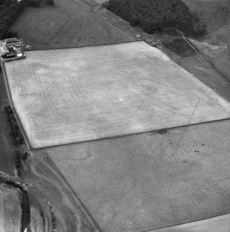 Oblique aerial view of Crawford Roman Fort.