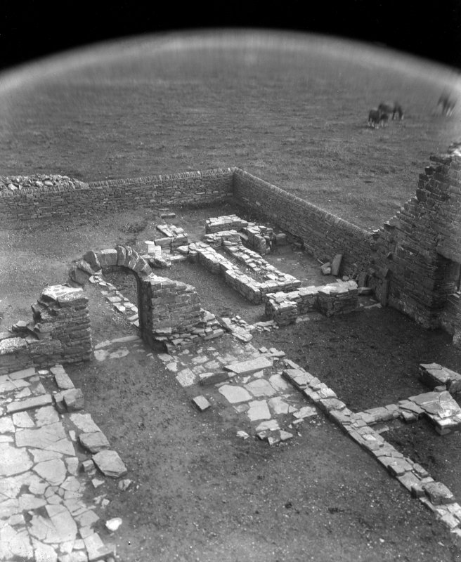View of courtyard excavations.