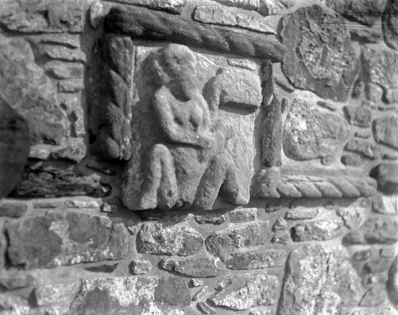 Interior. Detail of carved stonework.