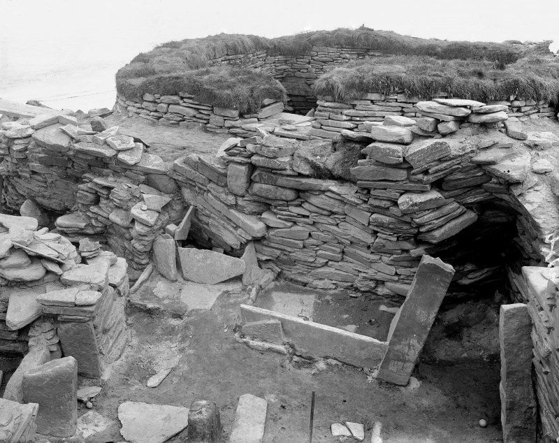 Excavation Photograph: House 2 at Skara Brae