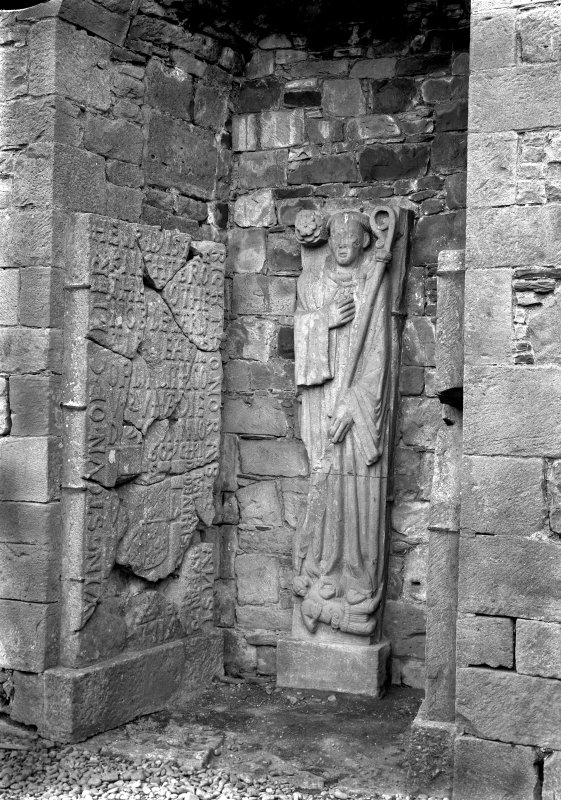 Interior. Detail of tomb sculpture.