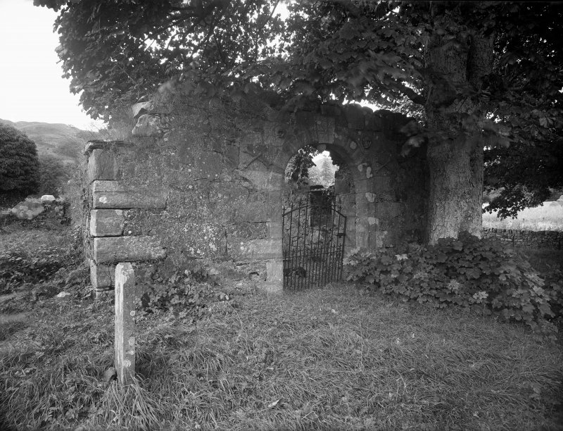 Ardchattan Priory General view showing gateway