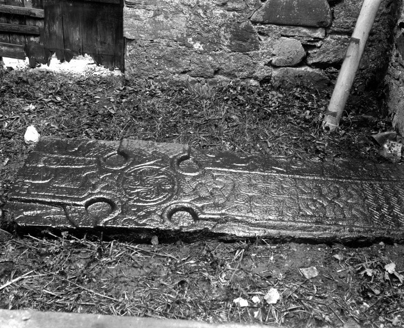 Ardchattan Priory View of stone cross slab