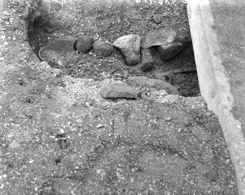 View of grave excavation.