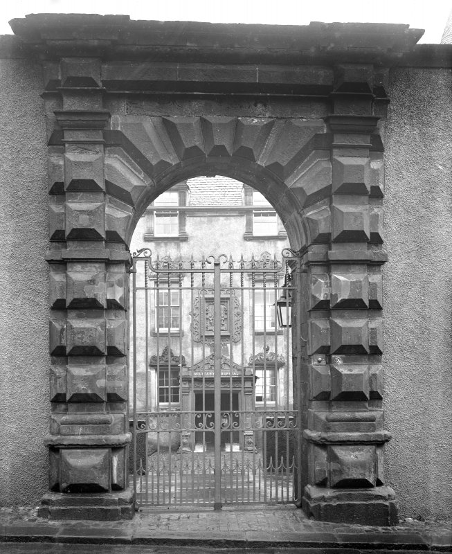 View of entrance gateway.