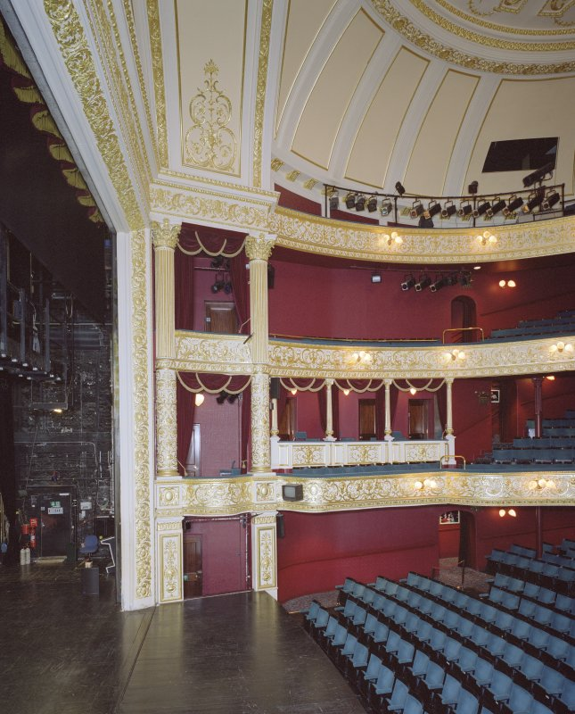 Interior. Auditorium. Boxes. View from E