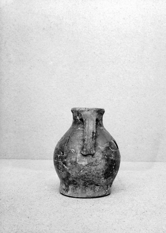 View of pottery vessel.