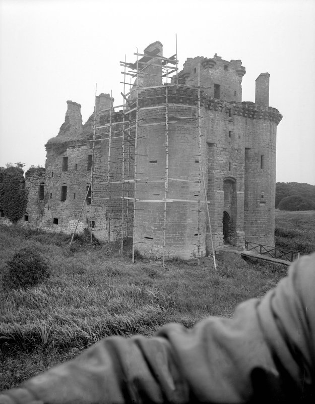 Caerlaverock Castle. General view from North East.