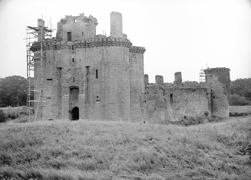 Caerlaverock Castle. General view from North West.