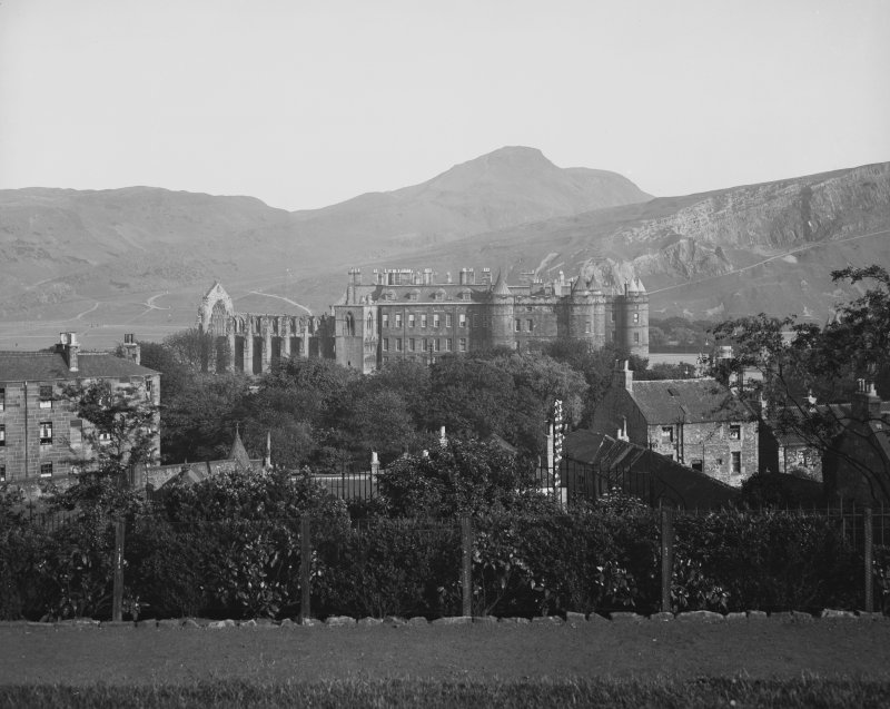 General view of Holyrood Palace and Abbey from North