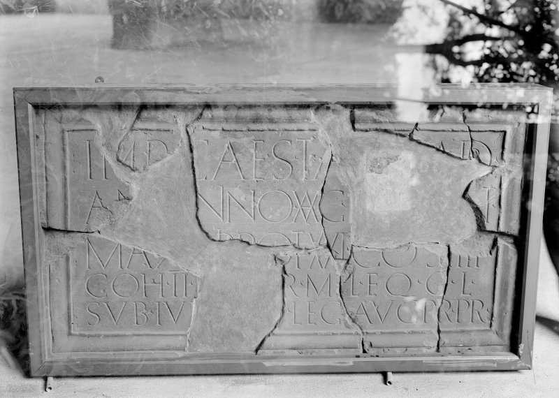 Inscribed stone found at Birrens, now in the National Museum of Scotland.