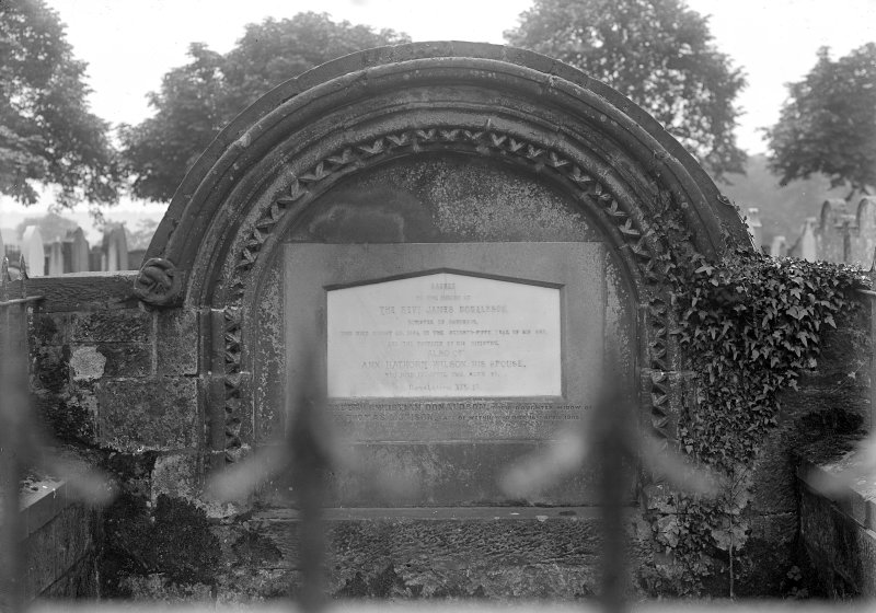 View of gravestone of Reverend James Donaldson.