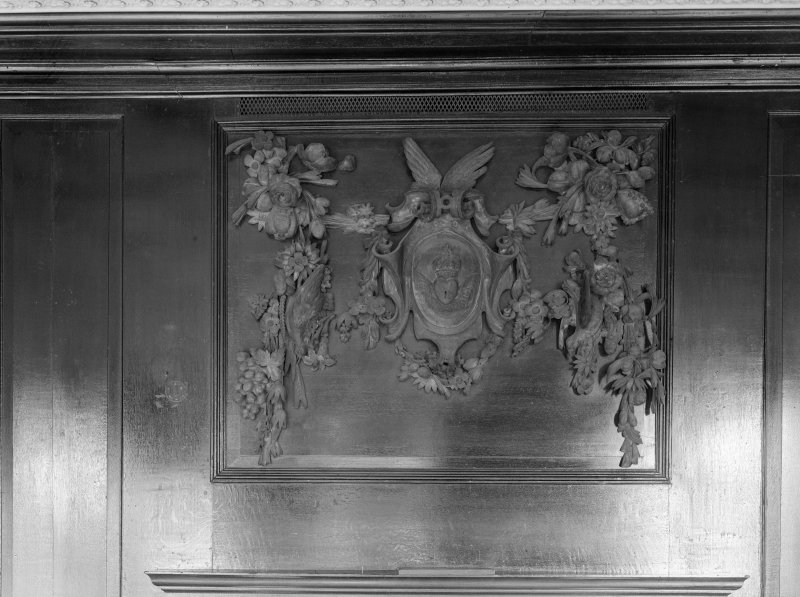 Interior. Detail of woodwork.