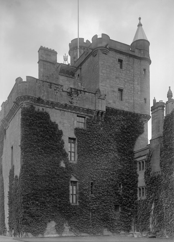 General view of tower house from N.