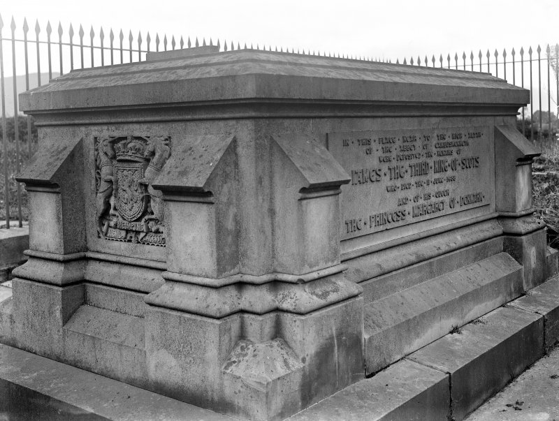View of tomb of James III.