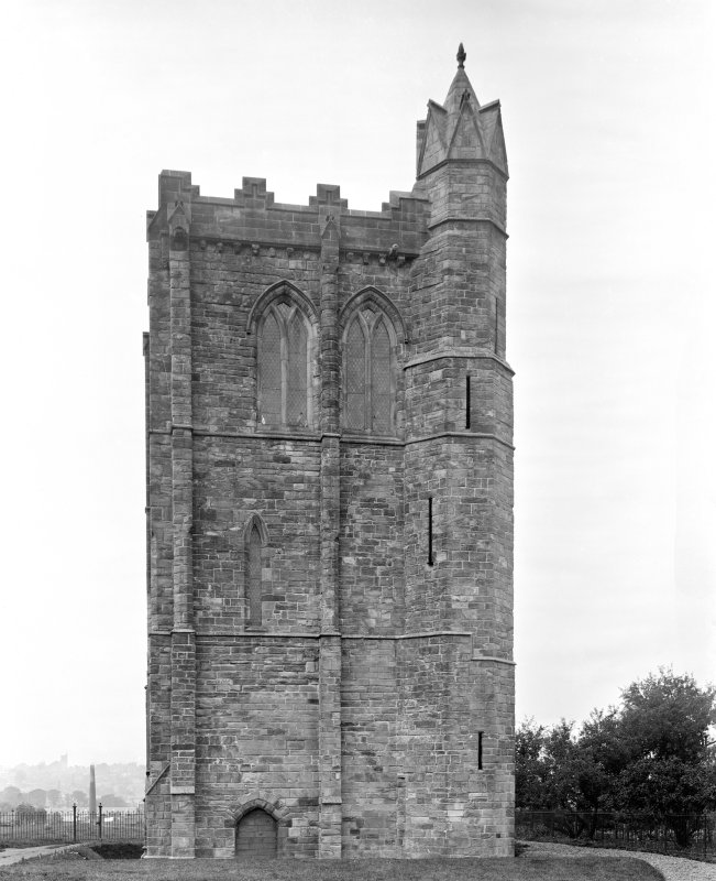 View of tower from E.