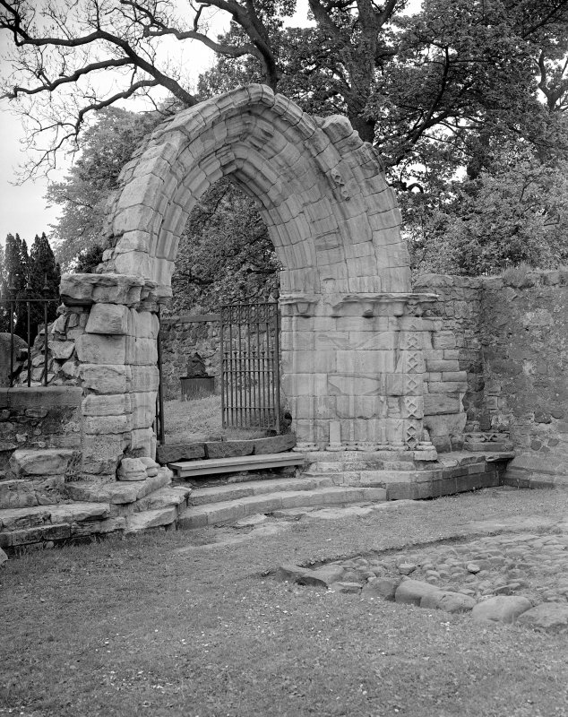 View of W doorway of nave.
