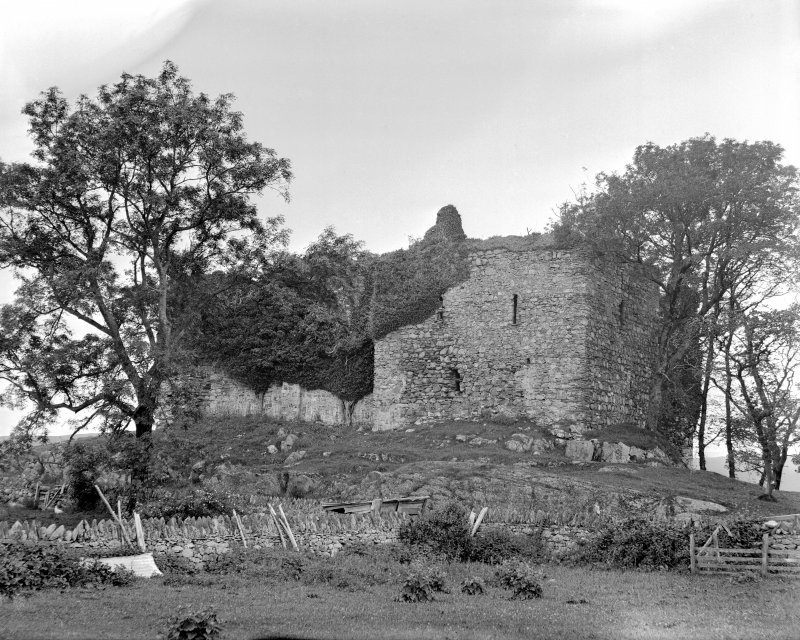 Castle Sween. General view from East.