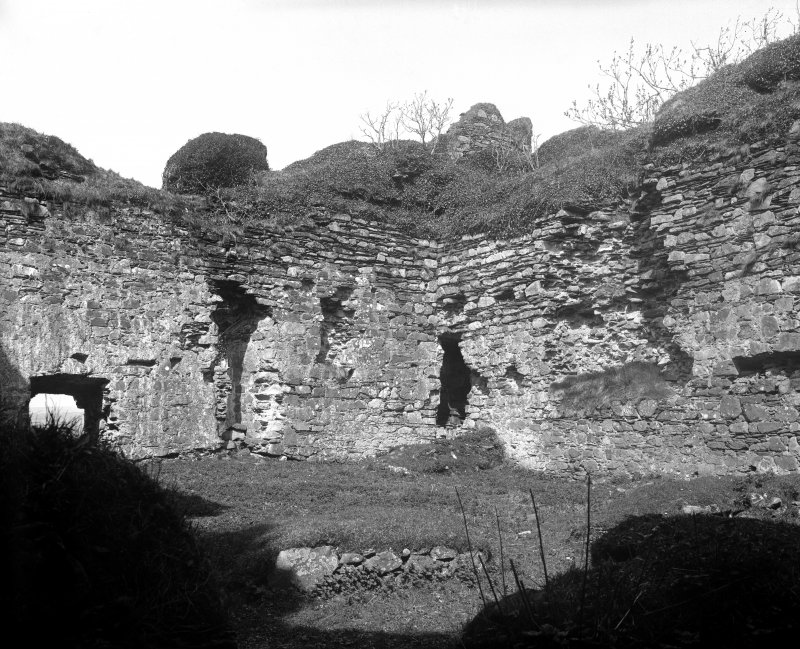 Castle Sween, interior. View of courtyard.