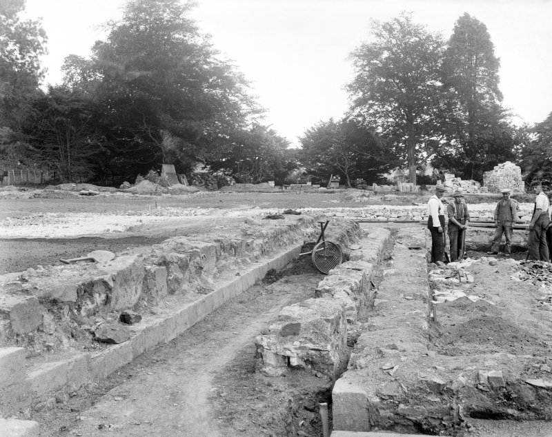 View of cloister walk excavation.