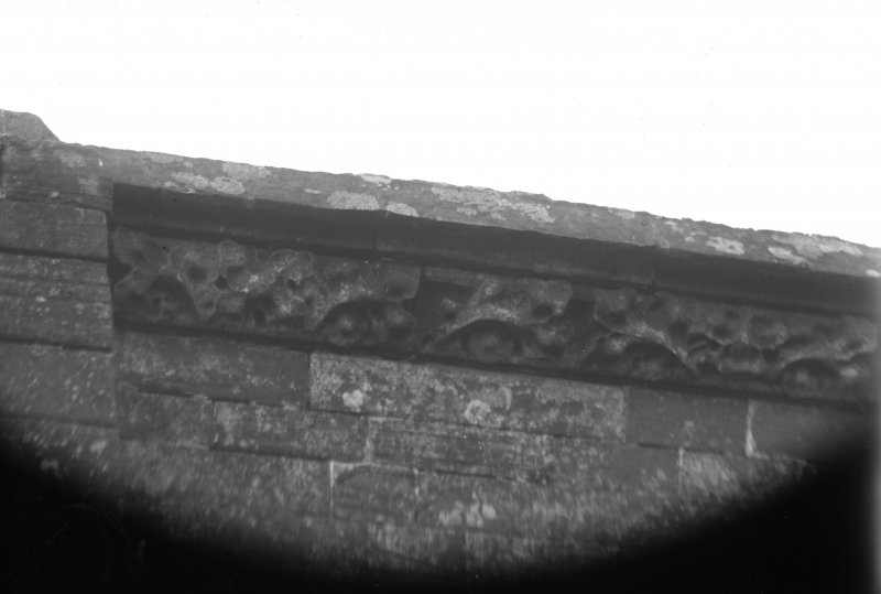 Detail of cornice at wall head.