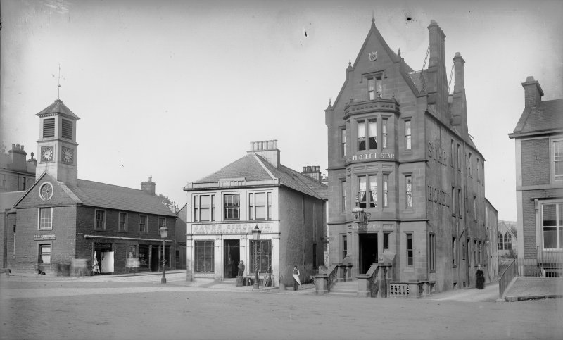 View of the Star Hotel, High Street, Moffat.  Titled: 'Star Hotel, Moffat'