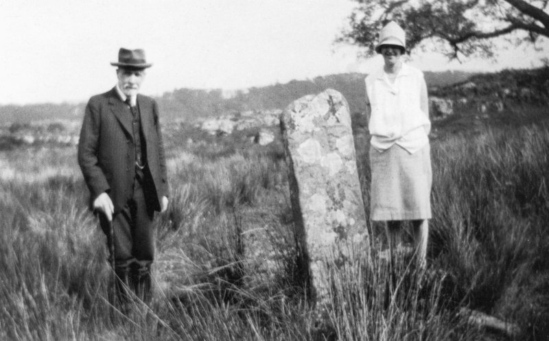 J S Grieve and Miss Murphy  beside well near ruined village on path to Coil a vara