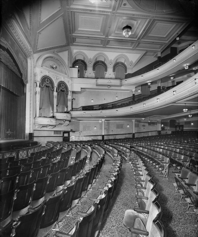 Interior. Auditorium, view from stalls.