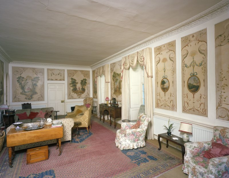 Interior. Drawing room, general view from SW.