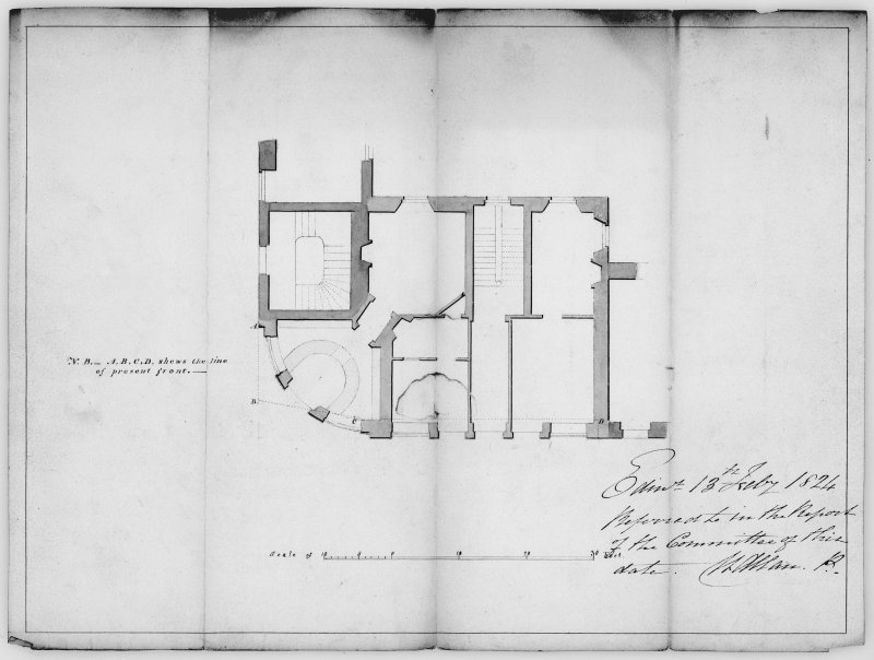 Ground plan of 2 Princes Street.