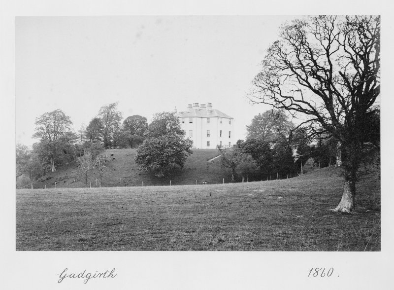 Copy of historic photograph showing general view.