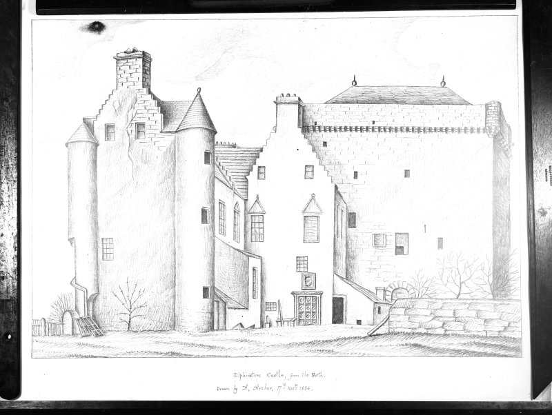 Photographic copy of a drawing showing general view from N.