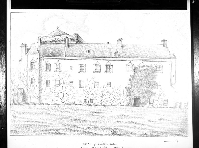 Photographic copy of a drawing showing general view from E.