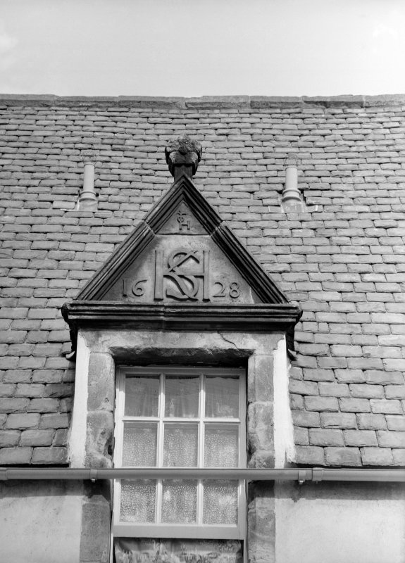 Detail of central dormer window.