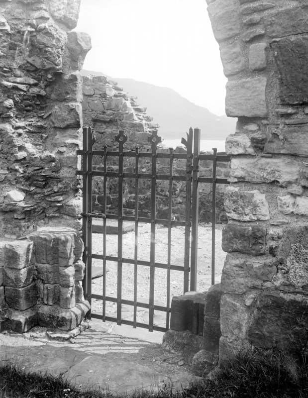 Mull, Inchkenneth Chapel. View of doorway in North wall.