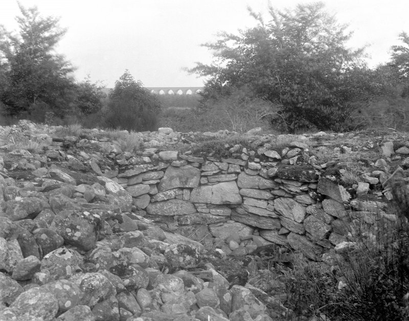 View of interior of north-east cairn.