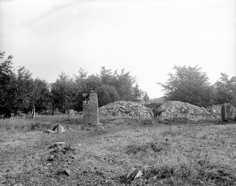 View of north-east cairn and stone circle.