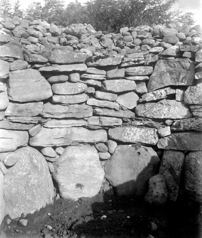 Detail of stones in north-east cairn interior.