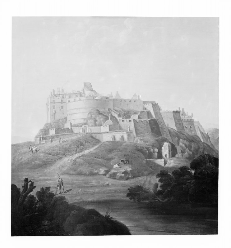 Sketch of Edinburgh Castle.