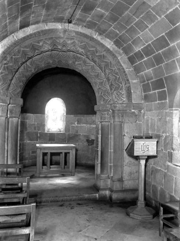 Interior. St Margaret's Chapel. Nave.