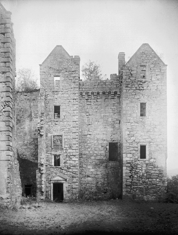 Dalquharran Castle. View of North facade.