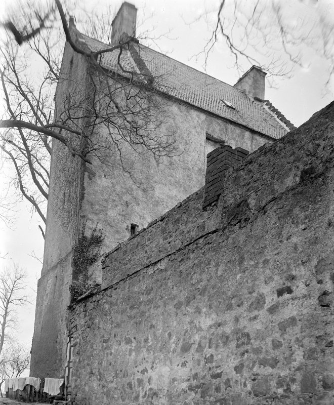 Detail of side of castle.