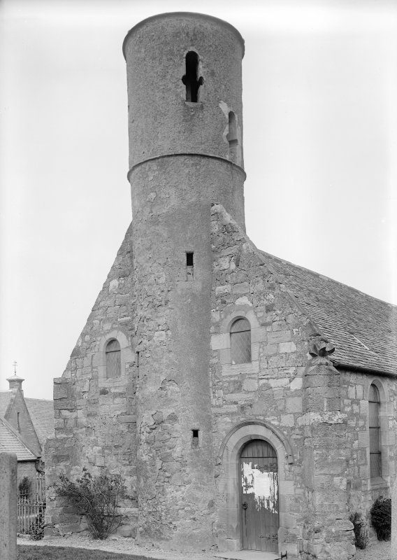 View of north tower, Cockburnspath Parish Church.