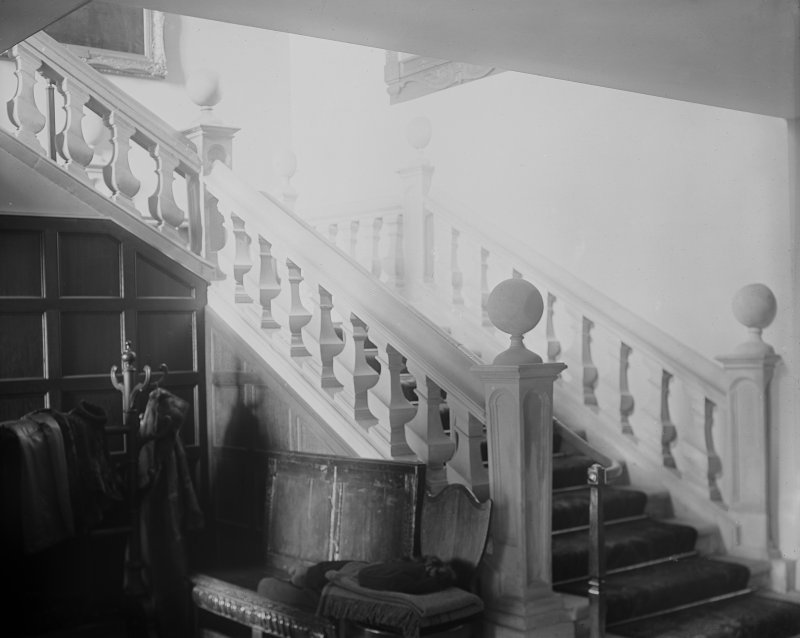 Interior. View of main staircase.