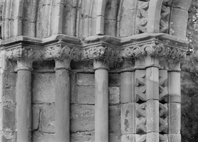 Detail of cloister doorway in NE angle.