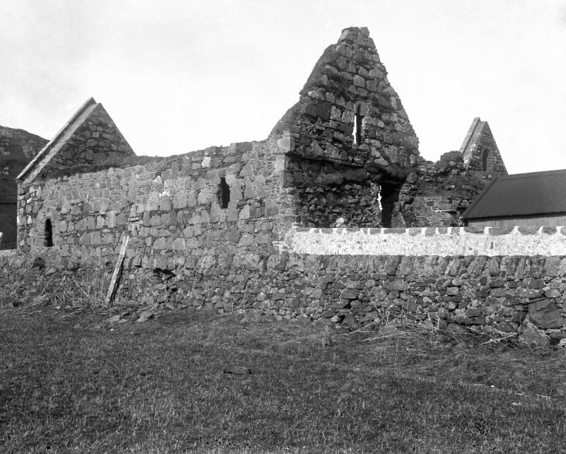 Iona, Iona Nunnery. View of refectory from South-East.